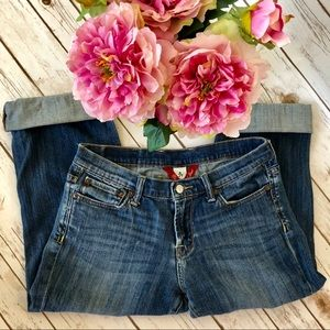 LUCKY BRAND denim jeans cropped women's size 8